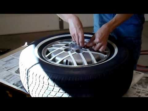 Reconditioning / Painting a Damaged Alloy Wheel (time lapse)