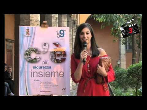 """Francesca  Chillemi  – Gli auguri e le """"papere"""" – 159° anniversario della Polizia 2011"""
