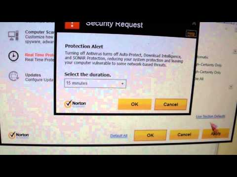 How to turn off Norton Antivirus