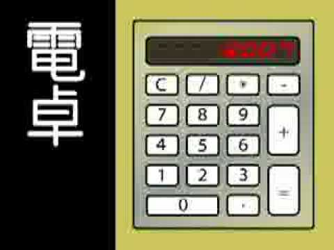 【初音ミク 】 電卓 Pocket Calculator/Dentaku Kraftwerk 【STEREO】