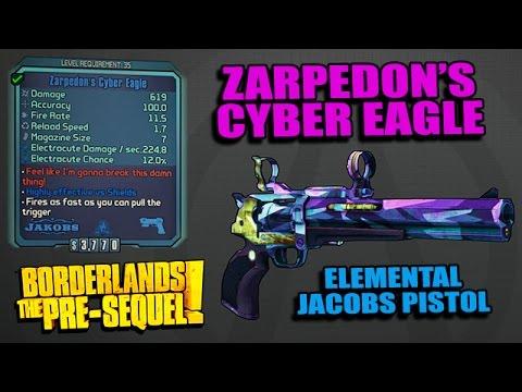 Borderlands: Pre-sequel! - Zarpedon's Cyber Eagle Unique Pistol Location Guide - The Secret Chamber video