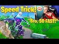 Tfue Teaches NEW Speed Trick! Fast Travel in Fortnite! (Bunny Hopping)