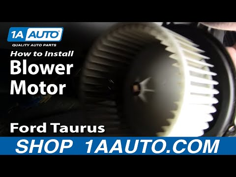 How To Install Replace Noisy Heater AC Blower Motor Ford Taurus Mercury Sable 96