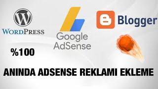 Wordpress&Blogger Anında Adsense Reklamı Ekleme (%100 KESİN ÇÖZÜM)