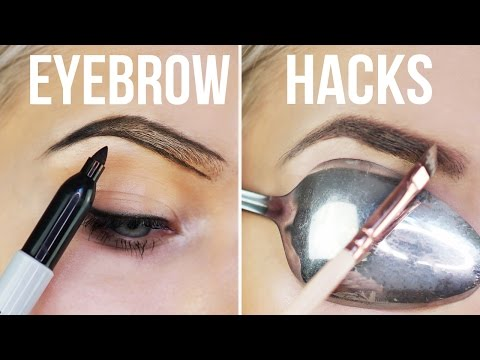 10 WEIRD Eyebrow Hacks EVERYONE Needs To Know!