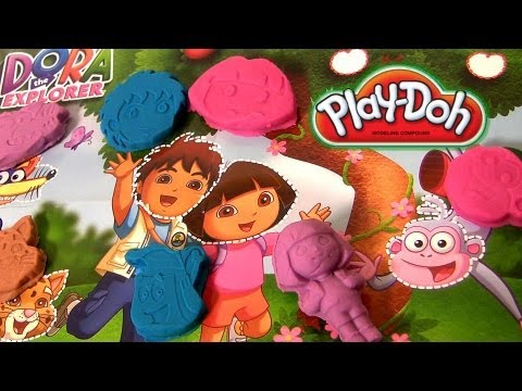 Play Doh Dora the Explorer With Diego Nickelodeon toys review playdough review by Disneycollector
