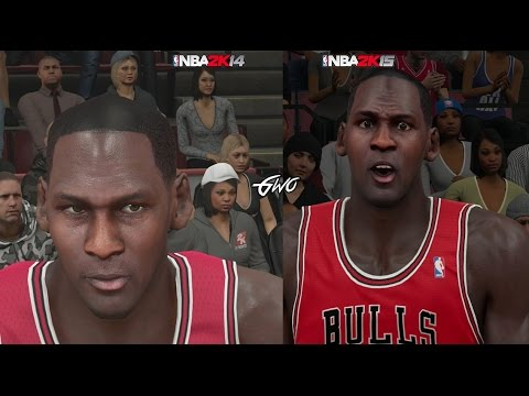 NBA 2K15 vs NBA 2K14 Legends Face Comparisons