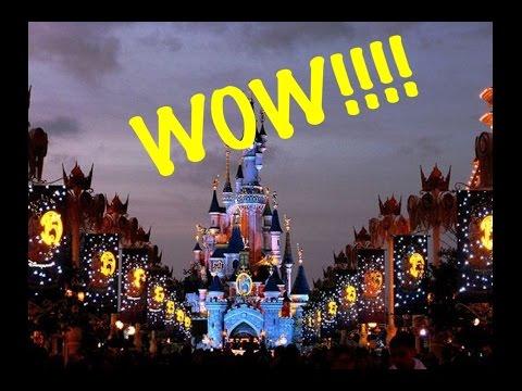 Disneyland Paris at Night Disneyland Paris August