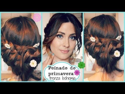 Peinado Fácil y Rápido ❀ Recogido con trenza elegante y romántico.