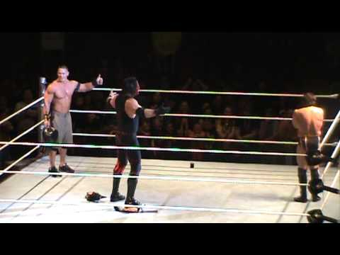 John Cena, Kane, Daniel Bryan Sings Country Roads Hugs WWE Raw World Tour Wheeling, WV 5-4-2013