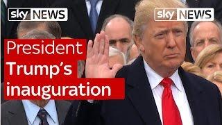 US President Donald Trump's inauguration speech