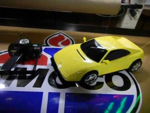 TYCO YELLOW  FERRARI 9.6V TWIN TURBO 348 R/C NIKKO RADIO CONTROL