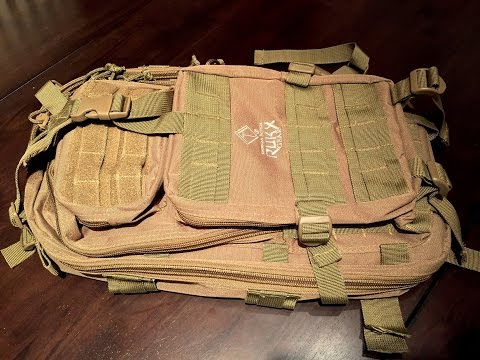 American Tactical Imports tan Rukx Gear 1 day hydration backpack