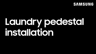 01. How to install the pedestal for your Samsung washing machine and dryer   Samsung US