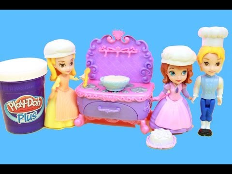 Sofia The First Family Play Doh Plus FAMILY BAKING FUN REVIEW AllToyCollector