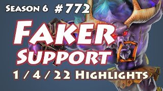 SKT T1 Faker - Alistar Support - KR LOL SoloQ Highlights