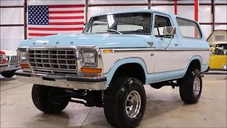 1979 Ford Bronco Blue whtie
