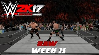 wwe2k Universe Mode I The Reality Era (Raw Week 11)