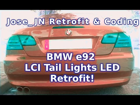 Retrofitting LCI LED Tail lights on a BMW e93
