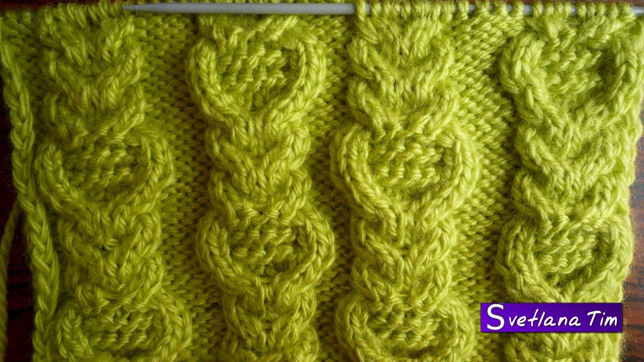 Вязание на спицах косы и араны спицами