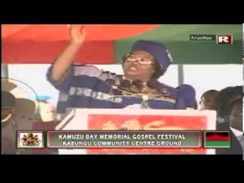 Joyce Banda at Kamuzu Day Memorial Gospel Festival, May 2013