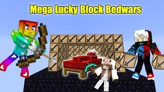 MINI GAME : MEGA LUCKY BLOCK BEDWARS ** SỰ LỢI HẠI CỦA NOOB VÀ CÁI KẾT CHO CỪU CÙNG PIXEL