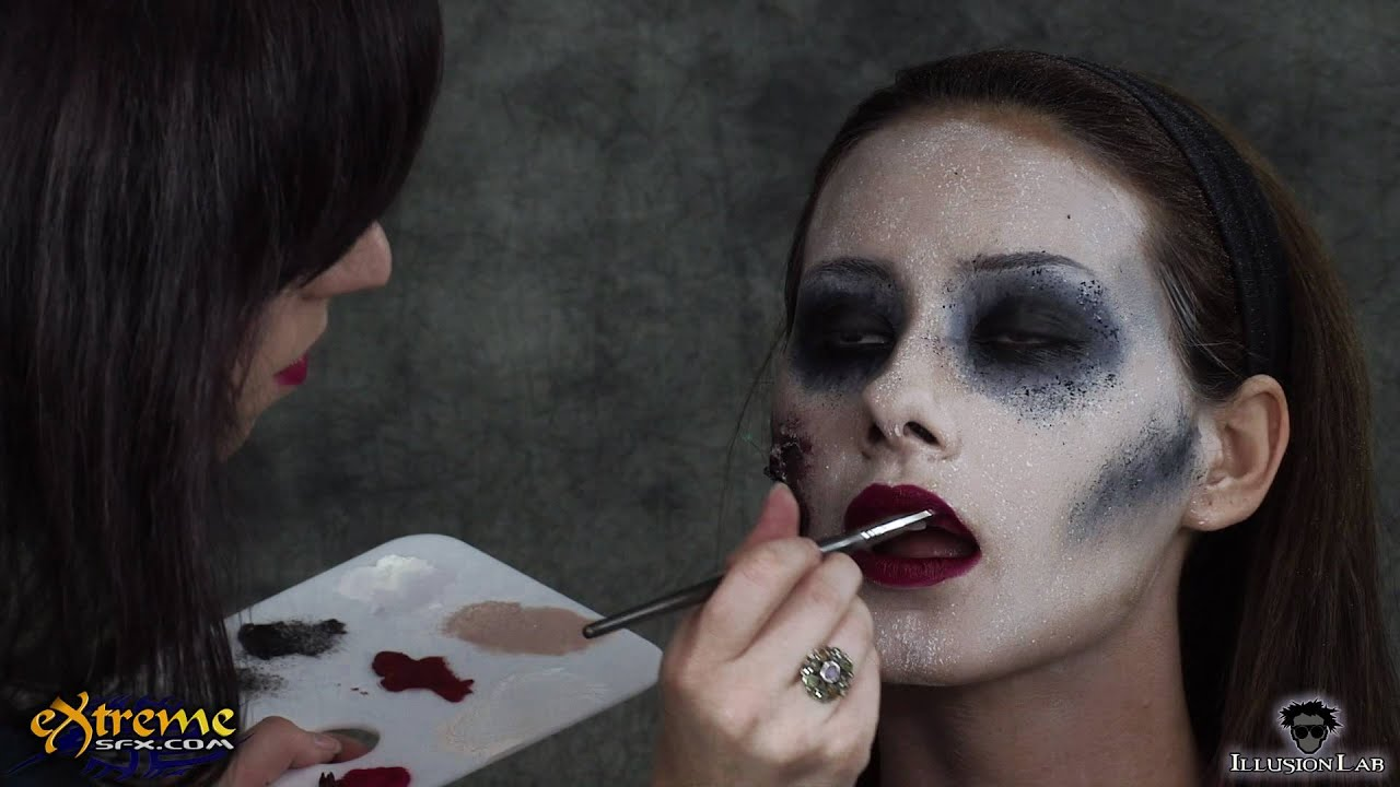 Zombie Makeup How-to, Flapper Zombie Part 4 - Halloween ...