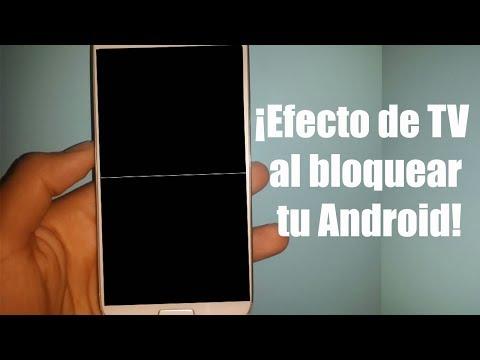 Como tener el efecto de TV antigua al bloquear nuestro Android