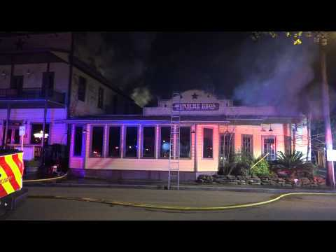 Raw video: Historic cafe burns in Texas