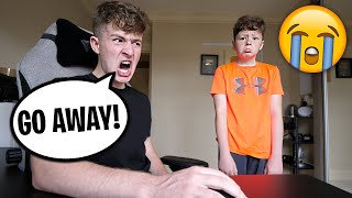 BEING MEAN To My Little Brother For 24 Hours! *PRANK*