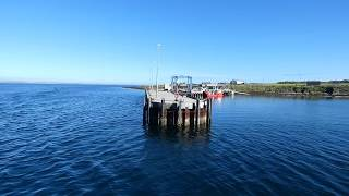 Kirkwall to Sanday ferry boat arrives at island of Eday port Orkney Scotland UK