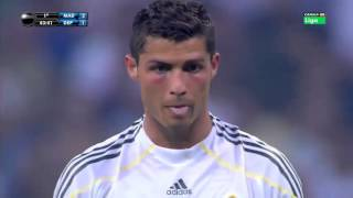 Christiano Ronaldo's first oficial match for Real Madrid