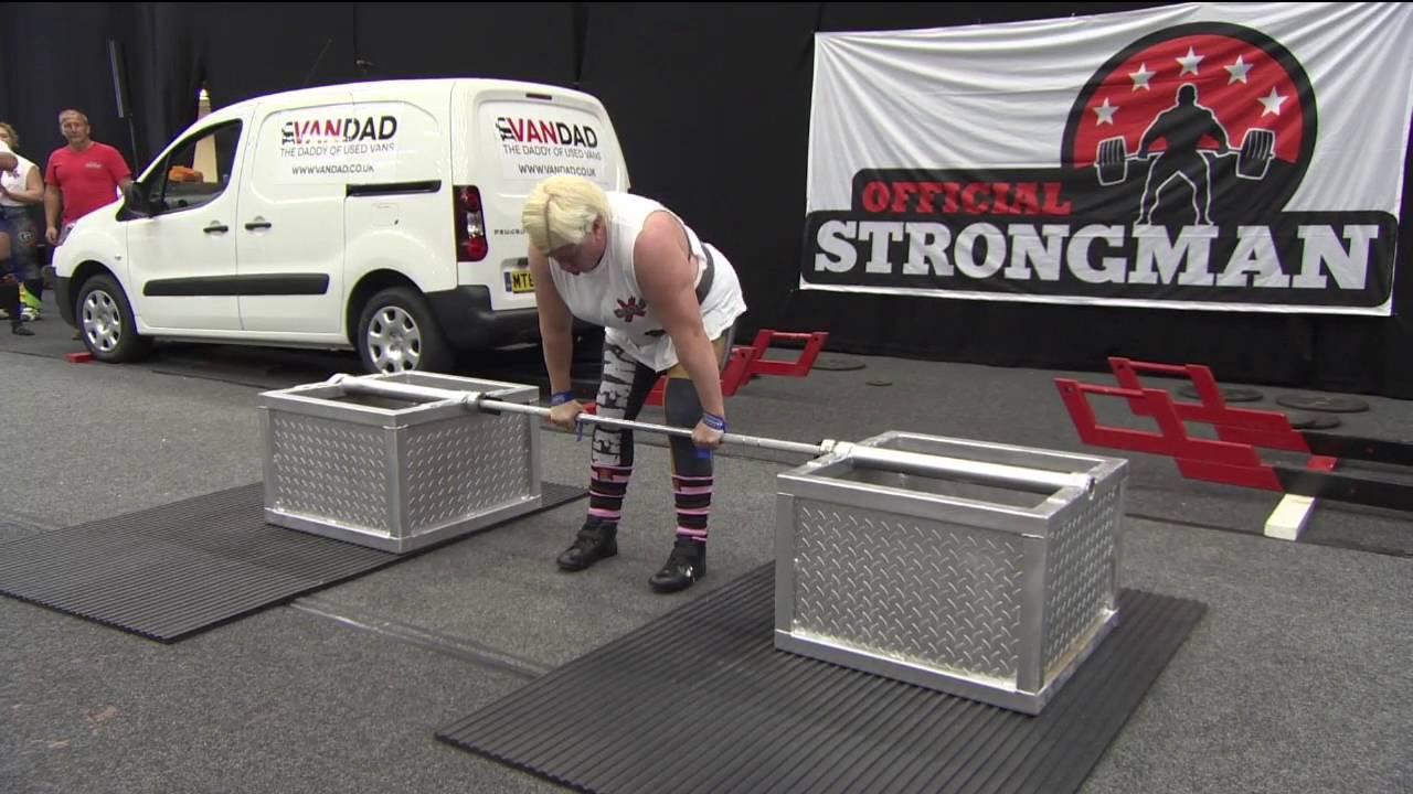 Anna Harjapaa setting silver dollar world record World's Strongest Woman 2016