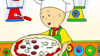 Funny Animated cartoon | Caillou Pizza Night | WATCH CARTOON ONLINE | Videos For Kids