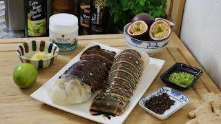 Queue de langouste grillée, passion et poivre de Timut