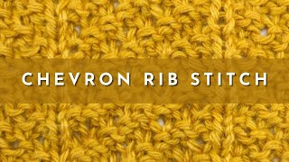 How to Knit the Chevron Rib Stitch