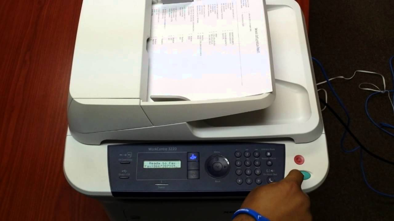 how to work a fax machine