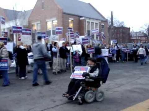 Outside a fundraiser held for Martha Coakley