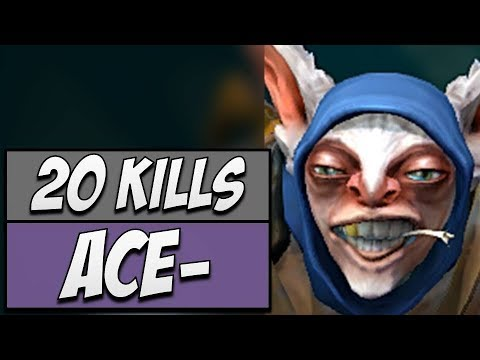 Secret.Ace Meepo - King with 20 KILLS | Dota Gameplay
