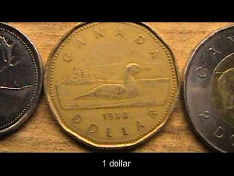 Canadian Coins. 0:25. Show 1 penny, 1 nickel, 1 dime, 1 quarter,1 dollar,