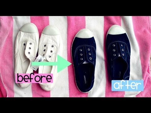 HOW to DYE your SHOES (EASIEST WAY)