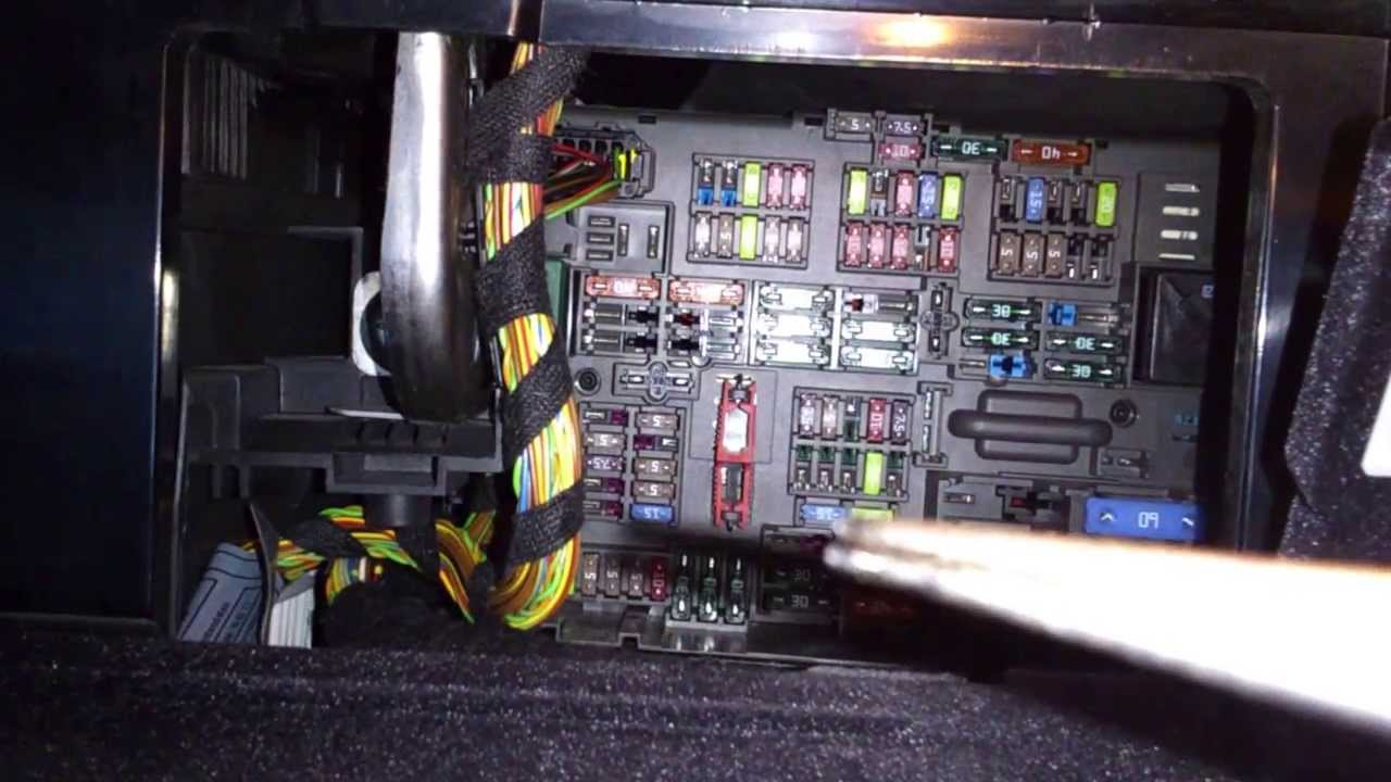 Bmw 320i E90 Fuse Box Location : Bmw e cigarette lighter fuse youtube