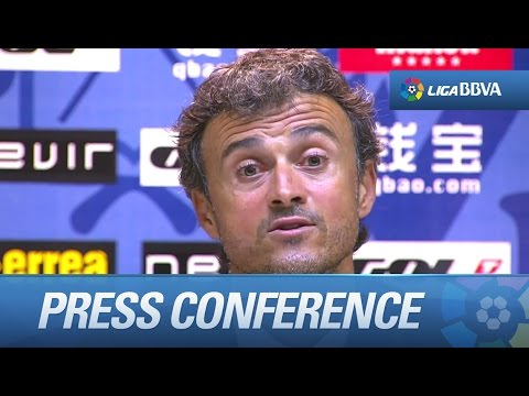 Press Conference Luis Enrique after Rayo Vallecano (0-2) FC Barcelona - HD