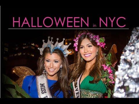 Miss Universe 2013, Gabriela Isler Y Miss USA 2014, Nia Sanchez  el dia de Halloween