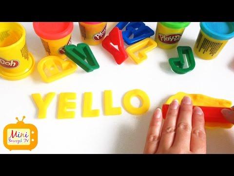 Nauka Angielskiego - Kolory Po Angielsku - Słowa Z Ciastoliny - ŻÓŁTY - Angielski Dla Dzieci