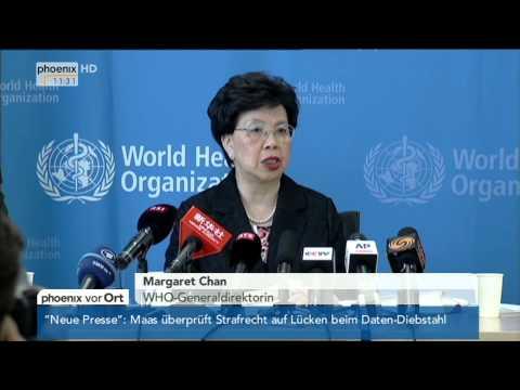 Ebola-Epidemie - Margaret Chan erklärt Internationalen Gesundheitsnotfall am 08.08.2014