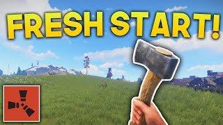 FRESH START!!   Rust SOLO Gameplay #1   S3