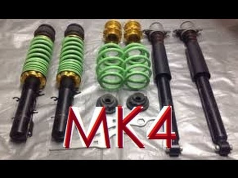 Raceland Ultimo Coilover Unboxing Mk4 GTI/Jetta