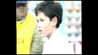 Andrés Iniesta en el Alba participa en el concurso de toque 1996