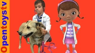doggy doctor day kendo play dog doctor! KIDS VIDEOS FOR KIDS AND DOCTOR TOYS!
